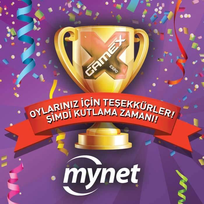 GameX 2015'te 'En İyi Oyun Yayıncı Firma' Mynet!